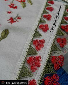 #Repost @oya_gunlugummm • • • • • Her nasip için ayrı bir rahmet şekillenir..❤ ➡@oya_gunlugummm  Sipariş ve bilgi için dm'ye buyrun 😉… Baby Knitting Patterns, Hand Embroidery Stitches, Diy And Crafts, Blog, Point Lace, Dish Towels, Hand Crafts, Embroidery, Rage