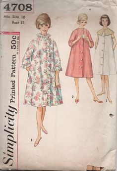 Retro 60s Simplicity Sewing Pattern House by AdeleBeeAnnPatterns