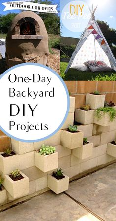 On-Day Backyard DIY Projects.  Great ideas, projects and tutorials.