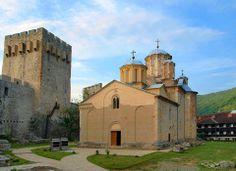 The monastery of Manasija or Resava, Serbia