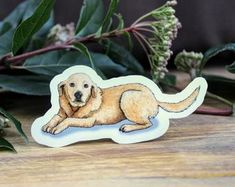 Yellow Labrador Retriever Dog on Weatherproof Glossy Sticker Paper Height: Inches; Width: Inches Stickers are sold individually or in packs of 3 and 10 Product specs: Labrador Retriever Dog, Handmade Items, Handmade Gifts, Glossier Stickers, Etsy Seller, Teddy Bear, Creative, Dogs, Prints