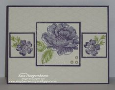 """SU Stippled Blossoms, Fancy Fan E F, 1 1/4"""" Square & 1 3/8"""" Square Punches, Champagne Mist  Shimmer Paint"""
