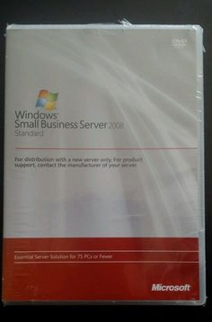 windows small business server 2008 standard sbs dvd with media client license 180