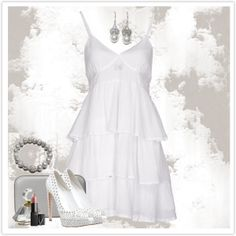 A fashion look from January 2014 featuring short white dresses, platform pumps and handbag purse. Browse and shop related looks. Casual Elegance, Platform Pumps, Short Dresses, Summer Outfits, White Dress, Fashion Looks, Spring Summer, Elegant, Chic