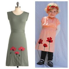 Beth Being Crafty: Poppy Applique Upcycled T-shirt Dress