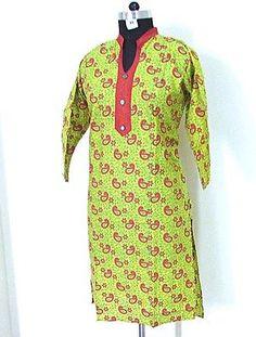 Designer Kurti Top Tunics Ladies Bollywood Casual Kurta Dress SZ-XXL B11J