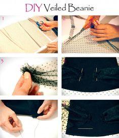 how to diy veiled beanie, jils sander beanie, fashion blog sydney, diy blog