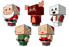 You will find some nice  and very easy-to-build paper toys in cubic style  to decorate your home or Christmas tree at Cubeecraft website.  ...