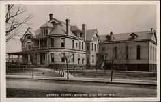 High Point NC Graded School Building Real Photo c1910 Old Postcard