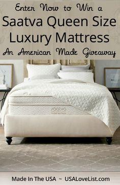 Ends March 19, 2015 at midnight EST!! Saatva Luxury Mattress Giveaway via USALoveList.com