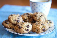 Amerikanske sjokoladekjeks med havregryn No Bake Cookies, Baking Cookies, Oatmeal Chocolate Chip Cookies, Food And Drink, Chips, Sweets, Dinner, Eat, Bird