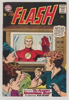 Seller of bronze and silver age Marvel DC comics Flash Comics, Marvel Dc Comics, A Comics, Dc Comic Books, Comic Book Covers, Comic Art, Nostalgia, Comics For Sale, Kid Flash
