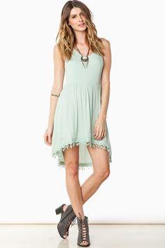 ShopSosie Style : Adrianna Halter Dress in Mint
