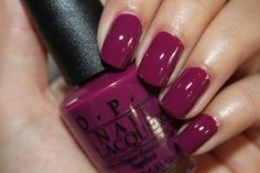 Anti-Bleak is a Stage Shade from the OPI Mariah Carey Collection OPI Anti-Bleak This deep, creamy purple will lift your spiri. Opi Nail Colors, Purple Nail Polish, Opi Polish, Sexy Nails, Fancy Nails, Gorgeous Nails, Pretty Nails, Damaged Nails, Polka Dot Nails