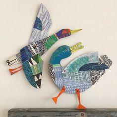 New Illustration Art Kids Collage 33 Ideas Kids Collage, Collage Artists, Paper Animals, Cardboard Art, Paper Artist, Art Club, Art Plastique, Elementary Art, Bird Art