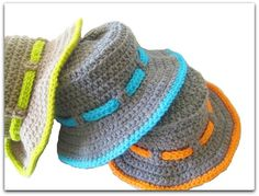 free crochet hat sun patterns | Crochet Dreamz: Boy's Sun Hat Crochet Pattern, Newborn to 10 Years