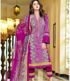 Karam Embroidered  Lawn Suits Collection 788_B