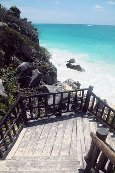 I can feel the sand fun against my feet as I walk down these stairs, and the crashing waves getting louder as I get closer.