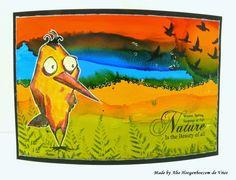 Alie Hoogenboezem-de Vries: Designs by Ryn meets the Tim Holtz Crazy Birds :-)