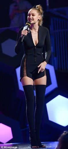 Gigi Hadid shows off figure hosting 2016 iHeartRadio Much Music Video Awards | Daily Mail Online