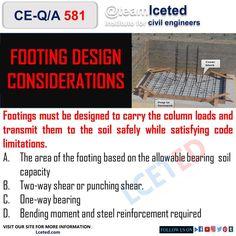 Civil Engineering Works, Civil Engineering Construction, Concrete Footings, Reinforced Concrete, Bending Moment, Deep Foundation, Consideration, Civilization, Cover Design