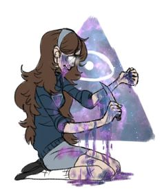 My poor Mabel has turned dark T-T The art is disturbing, but strangely addicting to look at... probably because she bleeds nebulas???  STARS UNDER HER SKIN by razkavia AND SHE BELONGS TO DISNEY