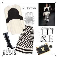 """""""MAKE IT MONOCHROME♥♥♥"""" by marthalux ❤ liked on Polyvore featuring Valentino"""