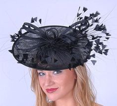Black Feather Profile Fascinator...perfect for the Derby!