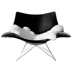 [Furniture] : Attractive Black Stringray Modern Rocking Chair Designed By Thomas Pedersen 2 Sofa Chair, Upholstered Chairs, Armchair, Butterfly Chair, Outdoor Seating, Modern Interior Design, Chair Design, Modern Furniture, Mid Century
