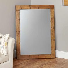 heyford rough sawn oak chunky wall mirror aston solid oak wall mirror