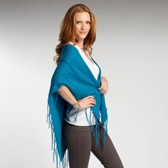 organic cotton Summer Shawl in Blue Nile from @INDIGENOUS