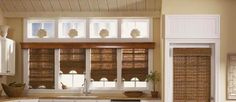 Bamboo curtains for window coverings in interior living room