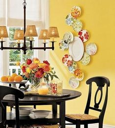 Love this yellow. Especially when I get around to painting the kitchen table black :)