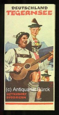 Tegernsee. Luftkurort. Prospekt mit einer farbigen (wiederholten), cover art by Ludwig Hohlwein (1938)