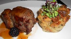 Australian lamb ribeye, goat cheese bread pudding, wild berry lamb demi watercress @Del_Friscos #Boston