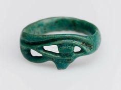 Eye Of Horus (Wedjat) Finger Ring [Egyptian, New Kingdom] (1539–1075 B. C.) [Museum Of Fine Art, Boston]