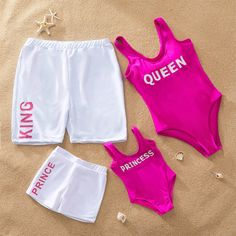 Check out this great stuff I just found at PatPat! Check out this great stuff I just found at PatPat! Cool Royal Family Letter Print Matching Swimsuit<br> An extra OFF is available for new users now Mommy And Me Swimwear, Kings & Queens, Kids Outfits, Cute Outfits, Batman Outfits, Rock Outfits, Emo Outfits, Matching Couple Outfits, Matching Couples
