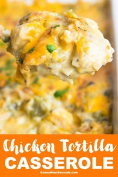 Chicken Tortilla Casserole-A Tex-Mex, Super Creamy Chicken Casserole Always a hearty family favorite, Chicken Tortilla Casserole makes the most of convenient ingredients while packing tons of rich flavor in every creamy bite! Chicken Tortilla Casserole, Creamy Chicken Casserole, Casserole Dishes, Casserole Recipes, Chicken Tortilla Recipe, Chicken Tortilla Bake, Corn Tortilla Recipes, Easy Chicken Enchilada Casserole, Turkey Enchiladas