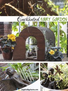 Old wood cage because an enchanted and charming mini fairy garden via Inspired by Charm