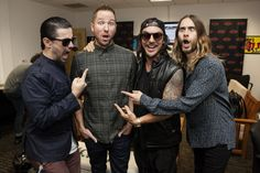 30 Seconds to Mars at Kroq Studio.- Red Bull Sound Space Show. Thirty Seconds, 30 Seconds, Mars Photos, Space Shows, Life On Mars, Shannon Leto, Jared Leto, Cool Bands, 30th