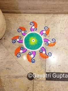 Colourful freehand #Rangoli design