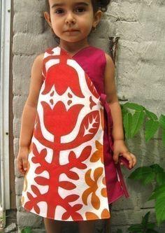 PDF pattern -Ruffled kimono dress - 12m up to 4T- Easy sewing -. $5.50, via Etsy.