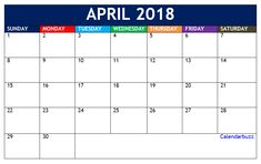 April  Calendar Template   Calendar Templates