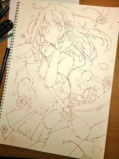 drawing, anime, and lovely image