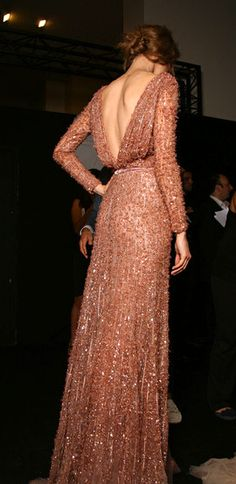 Elie Saab- low back gown with intricate beading