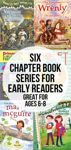 Six Chapter Book Series for Early Readers - perfect for those ages 6-8 Kids Reading, Teaching Reading, Reading Lists, Reading Books, Reading Resources, Library Activities, Kids Writing, Reading Strategies, Books For Boys