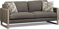 Furniture Epicenters Austin Townes Sofa blends a variety of materials to bring you comfort and style. It starts with a sturdy wood. Outdoor Sofa, Outdoor Furniture, Living Room Upholstery, Exposed Wood, High Quality Furniture, Art Furniture, Distressed Leather, Seat Cushions, Home Office