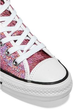 Converse - Chuck Taylor All Star Sequined Sneakers - Pink - UK5.5