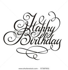 Happy birthday calligraphy style Hand Lettering Pinterest