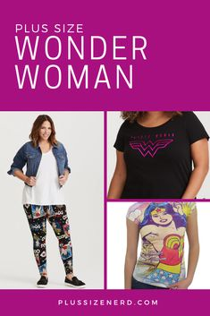 92a551e35e Plus Size Wonder Woman Shirts and Leggings
